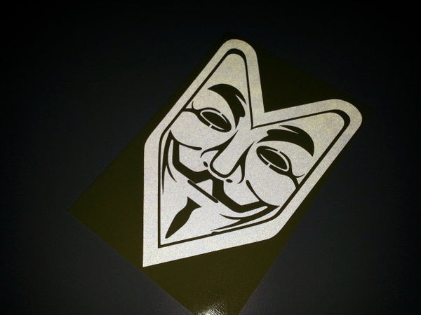 V for Vendetta Freedom UK laptop Mac Book JDM Decal VInyl Sticker