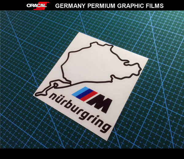 BMW NURBURGRING GERMANY M Power Motorsport Wheel 320i M3 M5 X5 Decal Sticker