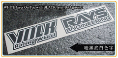 4 X Multi-layered Volk Racing Wheel & Rays Engineering TE37 Drift Car Decal Sticker