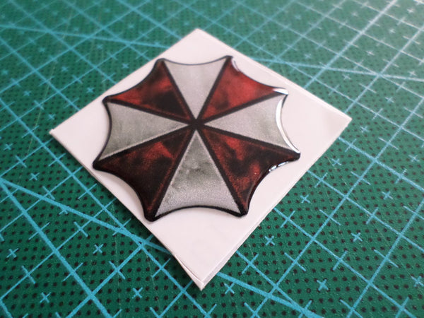 3D Small UMBRELLA CORPORATION Motorcycle / notebook / mobile Reflective emblem