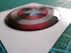 3D Small Captain America shield Motorcycle / notebook / mobile Reflective emblem
