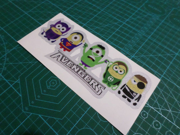 Avengers minions JDM Car 3M Reflective sticker