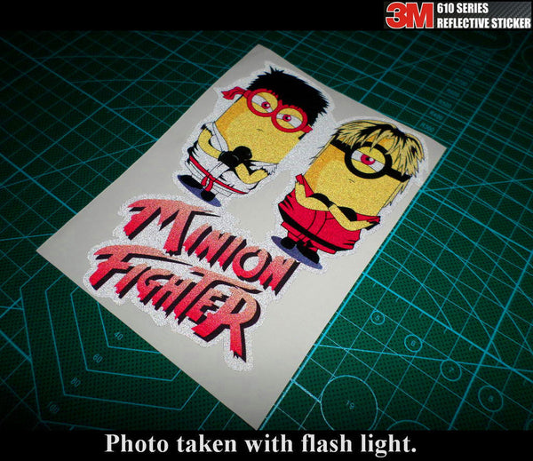 MINION STREET FIGHTER RYU & KEN JDM Car notebook 3M Reflective Sticker