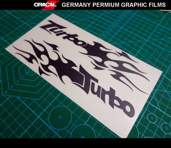 Pair of Torbo Flame Bumper decal JDM Racing Sticker