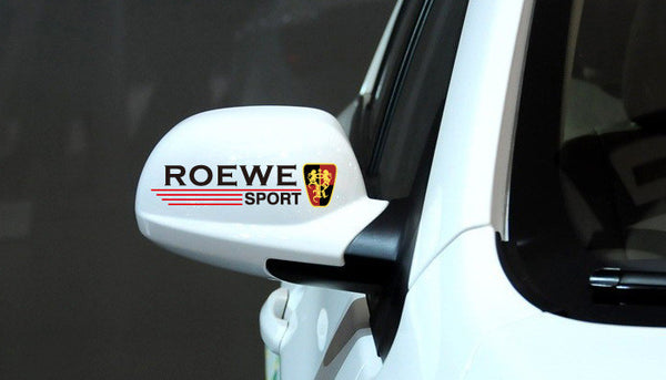 A Pair of ROEWE SPORT UK MG Car Mirror Sticker