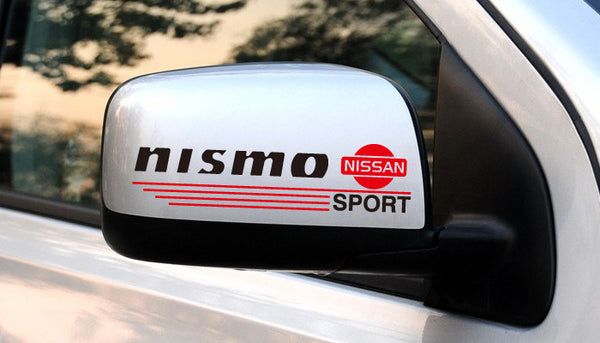 A Pair of nismo NISSAN SPORT Car Mirror Sticker
