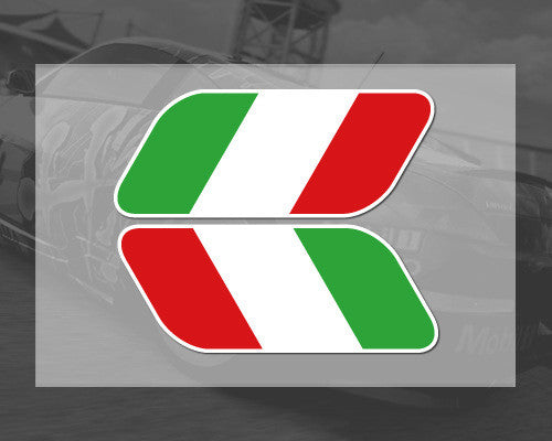 A Pair Of Italy Flag logo Abarth Vespa Car Decal Reflective Sticker