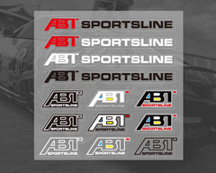 ABT SPORTSLINE  Audi VW Car interior Window Decal Sticker SET