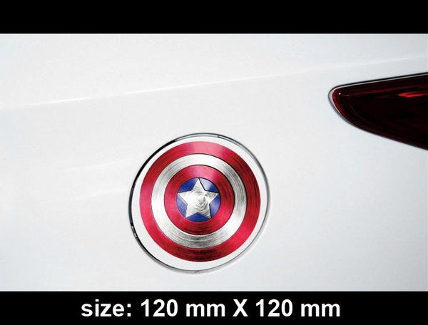 Captain America shield Car Fuel Cap / notebook Reflective Sticker
