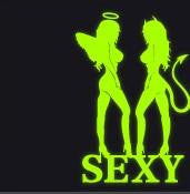 SEXY Chicks angel & devil Car JDM EURO DUB TRUCK TUE Decal sticker #2
