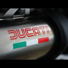 DUCATI Italy Flag logo Motorcycle Decal Reflective Sticker
