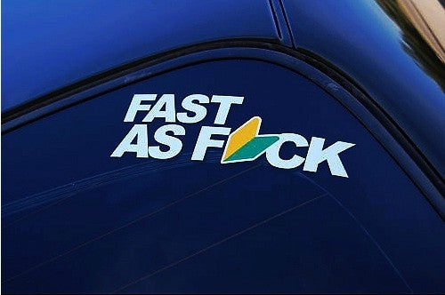 FAST AS FUCK JDM Car Decal Reflective Sticker