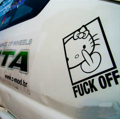 Hello Kitty F*CK OFF Car Decal Sticker