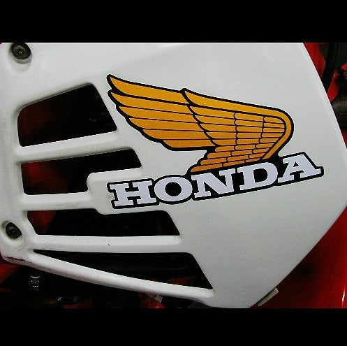 A Pair Of Honda Wings Jdm Motorcycle Decal Reflective