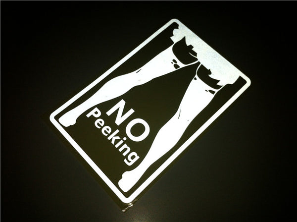 No Peeking Sexy Girl JDM Car Decal Sticker