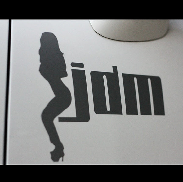 hot chick with JDM Car Decal sticker