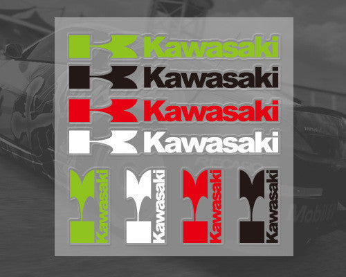 K Kawasaki TEAM RACING Motorcycle decoration Decal Sticker Set