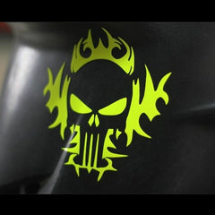 evil rider Skull punisher Motorcycle Decal Sticker