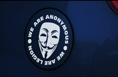V for Vendetta MASK WE ARE ANONYMOUS WE ARE LEGION Car Decal Sticker