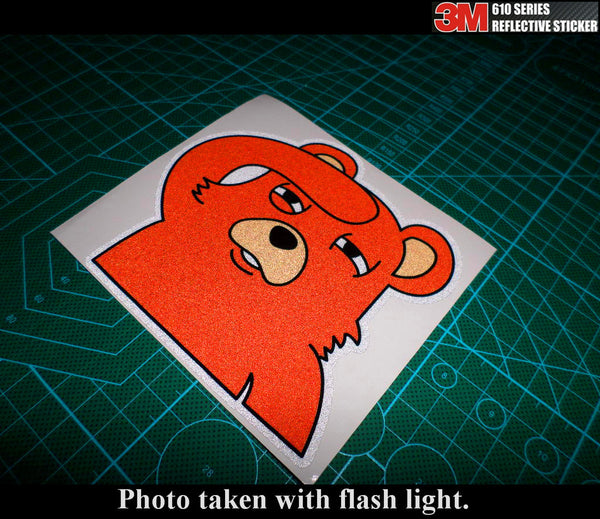 Stance Peeking funny Bear JDM 3M Reflective Sticker
