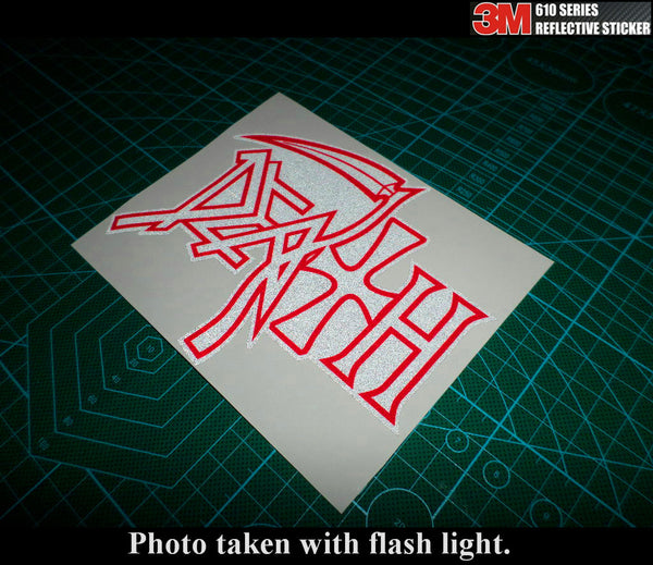 Death Sign Hell knight rider JDM Car 3M Reflective Sticker