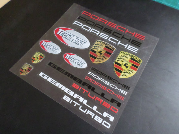 Porsche BITURBO GEMBALLA Car interior Window Decal Sticker