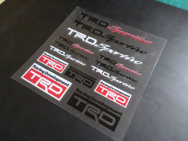 Racing Development TRD sportivo JDM Supra 86 F1 AE86 Car interior Window Decal