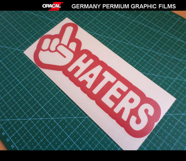 FUCK OFF HATERS JDM Car Decal Sticker