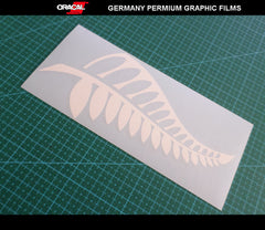 Silver Fern Tree New Zealand Symbol Vinyl Decal Car Sticker #02