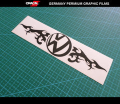 VW flame Volkswagen Euro Dub JDM GTI Golf Decal Sticker