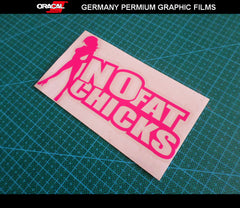 NO FAT CHICKS FUNNY 4X4 OFF ROAD JDM Vinyl Car Decal sticker