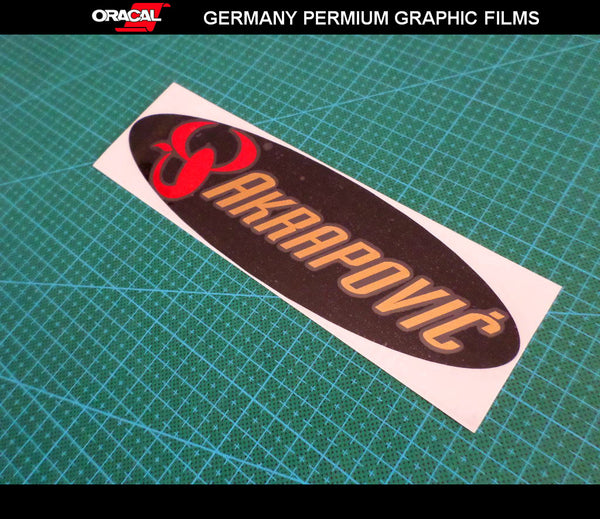 AKRAPOVIC Motorcycle body Decal Multi-layered vinyl Sticker #03