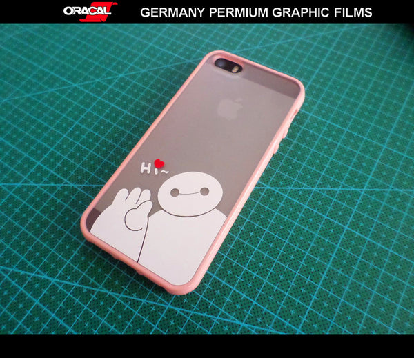 small Funny Cute Baymax Hi Heros iphone 5 6 plus mobile DIY Decal vinyl Sticker