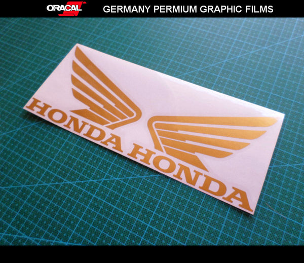 Pair of Honda Wing Fuel Tank Motorcycle Racing MotoGP Decal Sticker