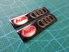 2 Pics Audi Car EMBLEM Badge