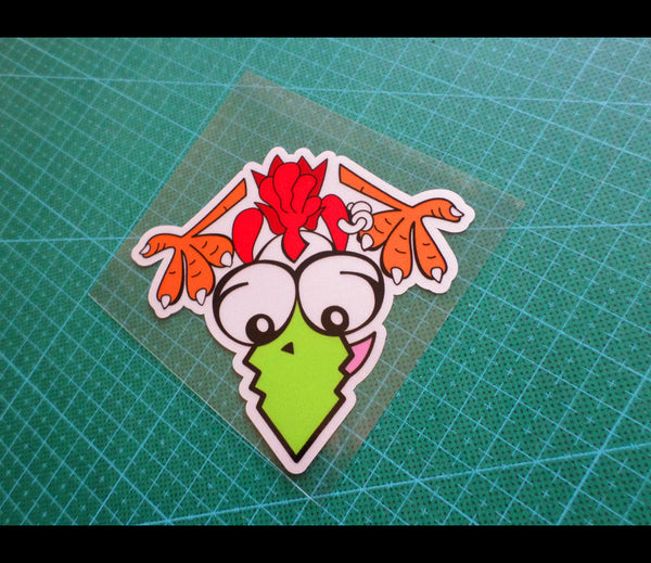 THE Peeking Chicken Rvalentino Rossi Reflective MotoGP Decal #05