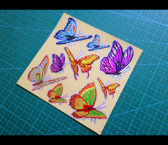 A set of butterfly Cute Reflective Decal Sticker Set
