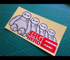 Funny Happy Cute Baymax Group Big Heros Decal Car Reflective Sticker