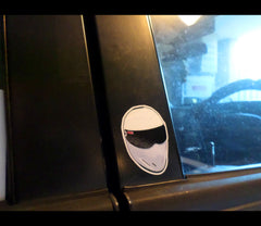 Small THE STIG Super Fast car driver JDM Euro Cute Reflective Decal Sticker #02