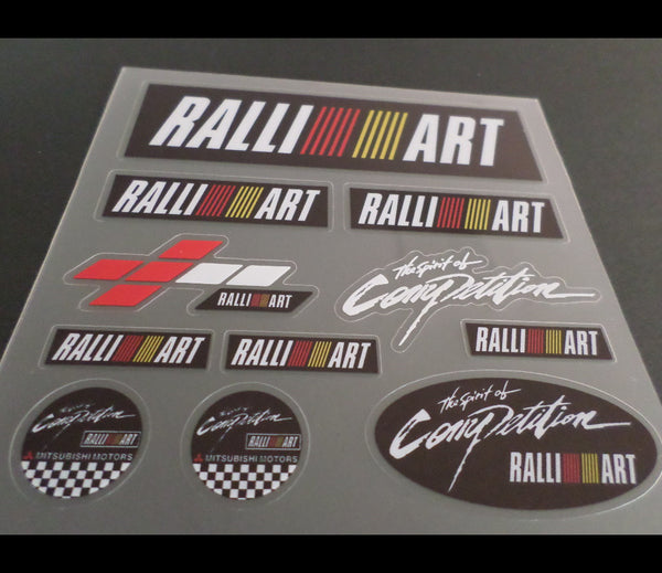 MITSUBISHI SPORT RALLIART EVO RALLY Lancer evolution JDM Car interior Sticker #2