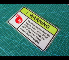 ! WARNING Turbo Engine noise JDM funny Sign Reflective Decal Sticker