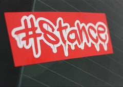#Stance Bleeding StanceWorks JDM Car Decal Multi-layered Sticker