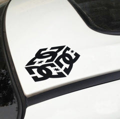 2 Of DC Cube Skateboard Car Decal Quality Stickers