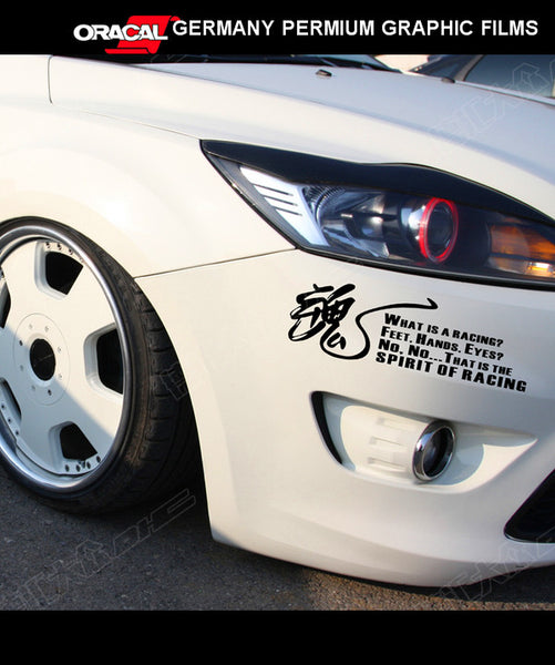 SOUL 魂 THE SPIRT OF RACING JDM VIP STI NISMO GTR GT 86 STI TYPE R vinyl Sticker