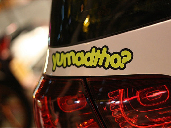 yu mad tho? JDM Car Decal Multi-layered Sticker