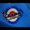 Vespa Lexington Motorcycle Decal Multi-layered Sticker