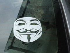 V for Vendetta Mask Car Decal Sticker