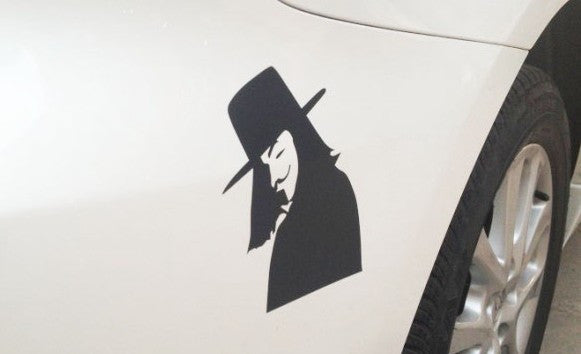 V for Vendetta victory Smile Car Decal Sticker