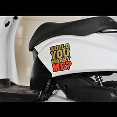WOULD YOU MARRY ME ? Car Decal Multi-layered sticker