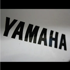 2 Pics YAMAHA Lettering Logo Motorcycle Decal Sticker